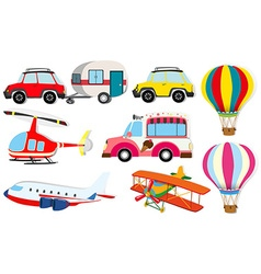 Different kind of transportation vector image vector image
