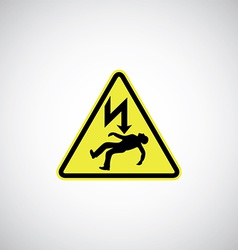 Electrocution risk sign vector