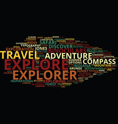 Explore word cloud concept vector