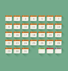 flat calendar icon date and time background vector image vector image