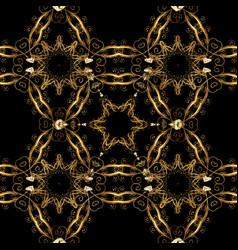 Golden color seamless for your design wallpaper vector