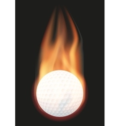 Golf ball with flame vector