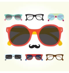 Hipster glasses set vector image vector image