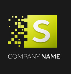 Letter s logo symbol in the colorful square vector