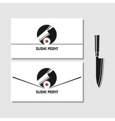 Logo design element sushi roll japan vector