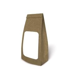 Mockup foil food bag package vector