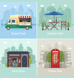 modern city places and spots vector image vector image
