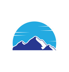 Mountain snow landscape logo image vector