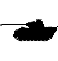 Panther german silhouette tank of world war ii vector