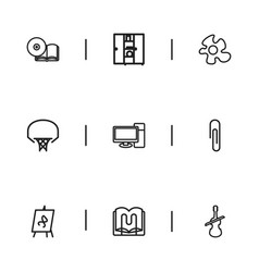 Set of 9 editable teach icons includes symbols vector