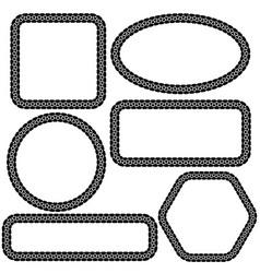 set of different frames vector image
