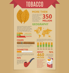 Smoking tobacco infographics vector