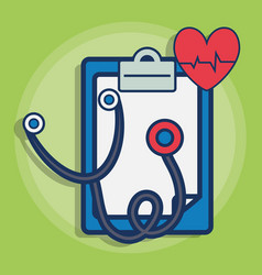Sthetoscope and medical related icons vector