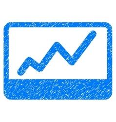 Stock market grainy texture icon vector