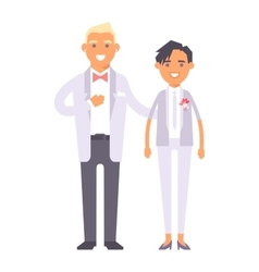 Wedding couple people vector