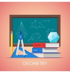 Geometry science education concept poster vector