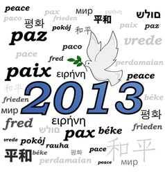 Peace in 2013 vector image