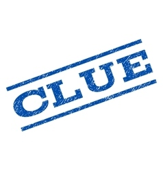Clue watermark stamp vector