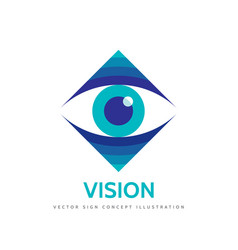 Vision logo template concept vector