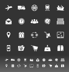 Logistic icons on gray background vector