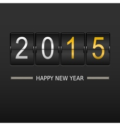 2015 happy new year on mechanical timetable vector
