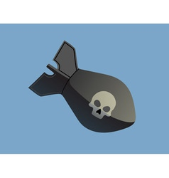 Bomb with skull vector