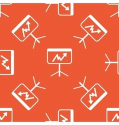Orange graphic examination pattern vector