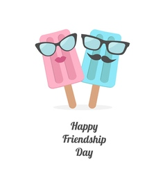 Icecream couple happy friendship day vector