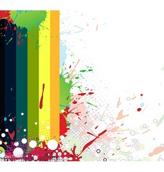 Colourful bright ink splat design vector image
