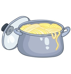 Cartoon home kitchen pot vector
