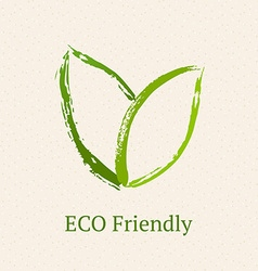 Green leaves ecology icon vector