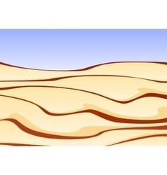 A sand desert with clear blue sky vector