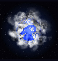 aries astrology constellation of the zodiac smoke vector image