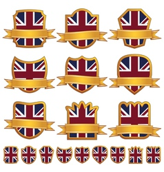 British emblem shields vector image