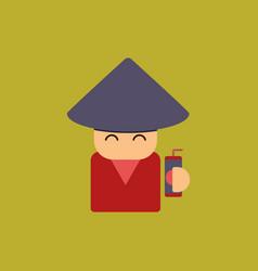 China man of chinese new year vector