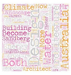 Climate a design imperative text background vector