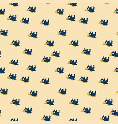 cute seamless pattern with cartoon crows vector image