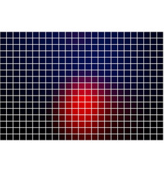 Deep blue and red square mosaic background over vector