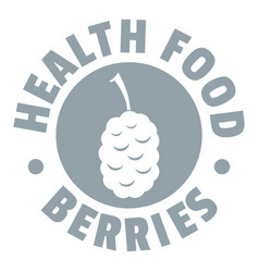 health berries logo simple gray style vector image vector image