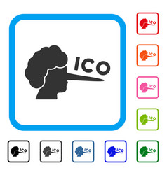 Ico lier framed icon vector