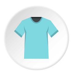 Men tennis t-shirt icon circle vector