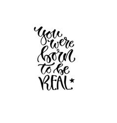 modern lettering inspirational hand lettered vector image