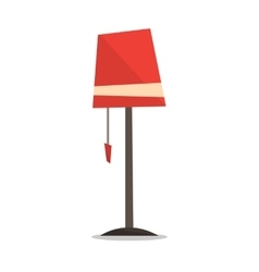 Red floor lamp vector image vector image