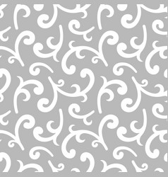 Seamless silver vintage wallpaper vector