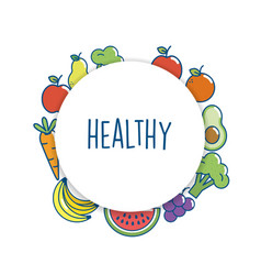 set delicious food nutrition to eat vector image