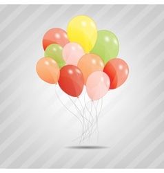 set of colored ballons EPS 10 vector image vector image