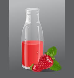 srawberry juice vector image vector image