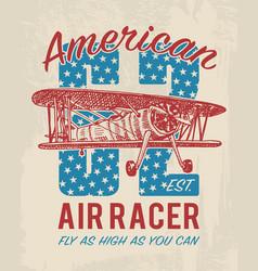 tee print passenger airplane or transport t-shirt vector image