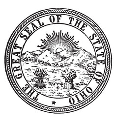 The great seal of the state of ohio vintage vector
