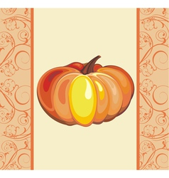 Background with pumpkin vector